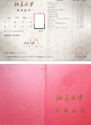 北京大学总裁班证书样本